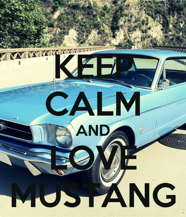 KEEP CALM AND LOVE MUSTANG