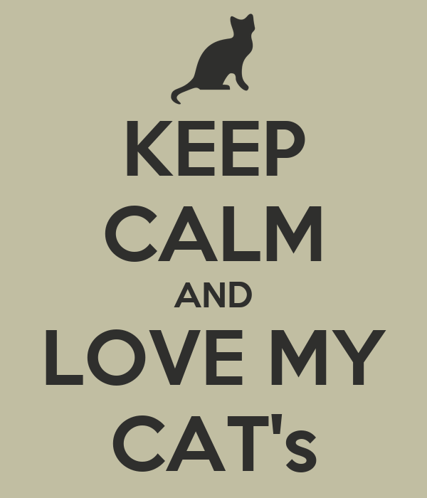 KEEP CALM AND LOVE MY CAT's