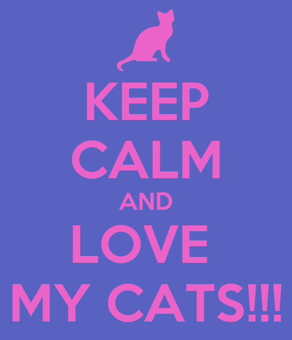 KEEP CALM AND LOVE  MY CATS!!!