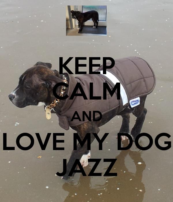 KEEP CALM AND LOVE MY DOG JAZZ