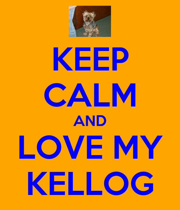 KEEP CALM AND LOVE MY KELLOG