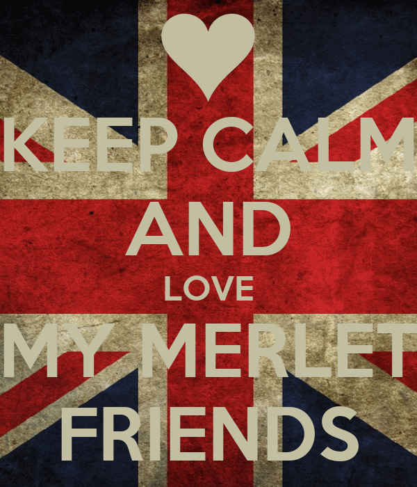 KEEP CALM AND LOVE MY MERLET FRIENDS
