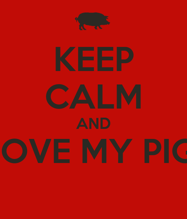 KEEP CALM AND LOVE MY PIG