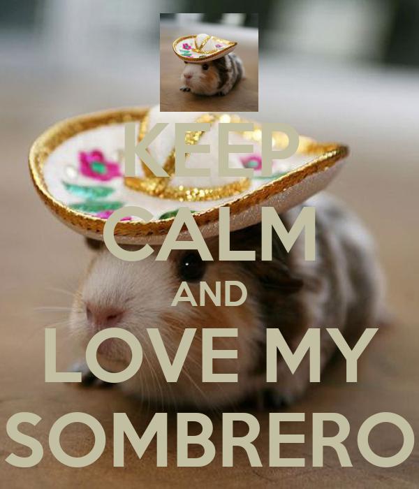 KEEP CALM AND LOVE MY SOMBRERO