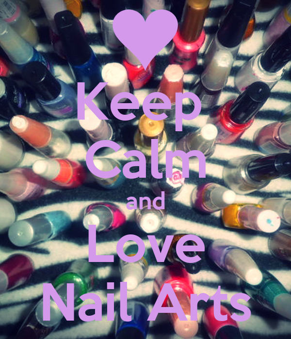 Keep  Calm and Love Nail Arts