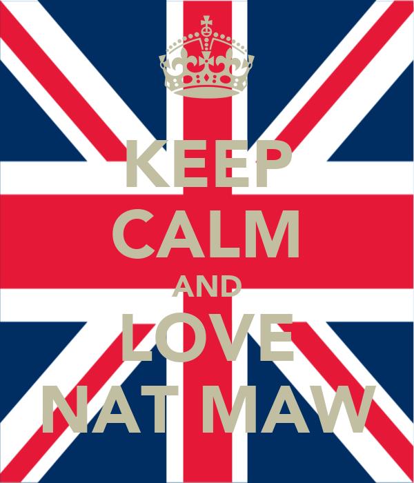 KEEP CALM AND LOVE NAT MAW