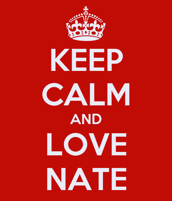 KEEP CALM AND LOVE NATE