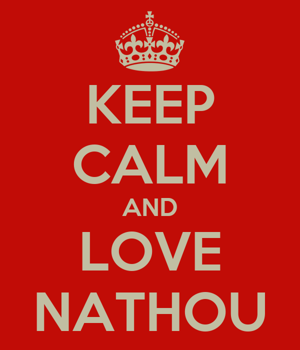KEEP CALM AND LOVE NATHOU