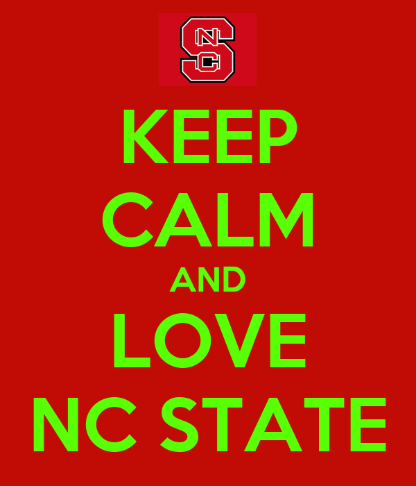 KEEP CALM AND LOVE NC STATE