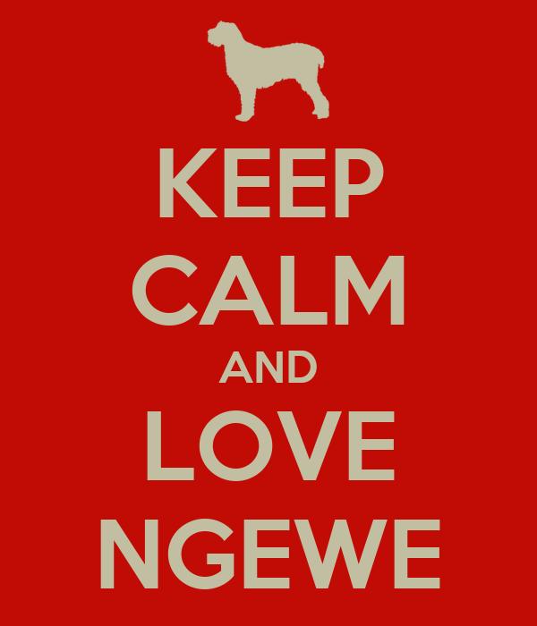 KEEP CALM AND LOVE NGEWE