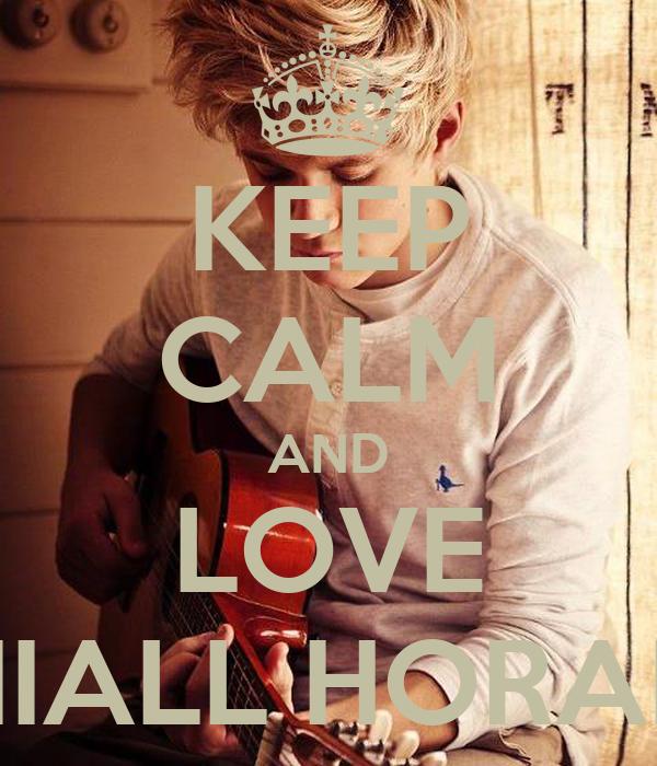 keep calm and love niall horan poster harryet styles