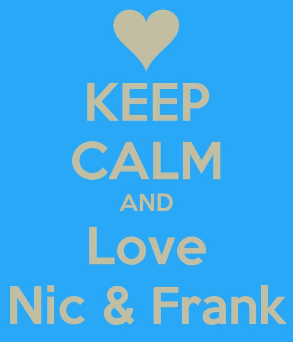 KEEP CALM AND Love Nic & Frank