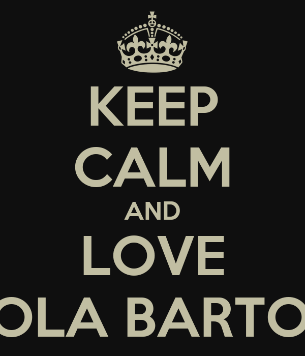 KEEP CALM AND LOVE NICOLA BARTOLINI