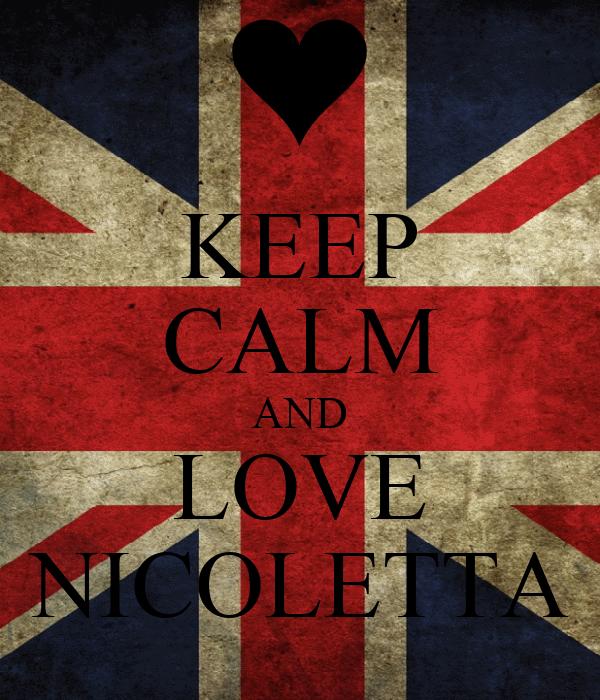 KEEP CALM AND LOVE NICOLETTA