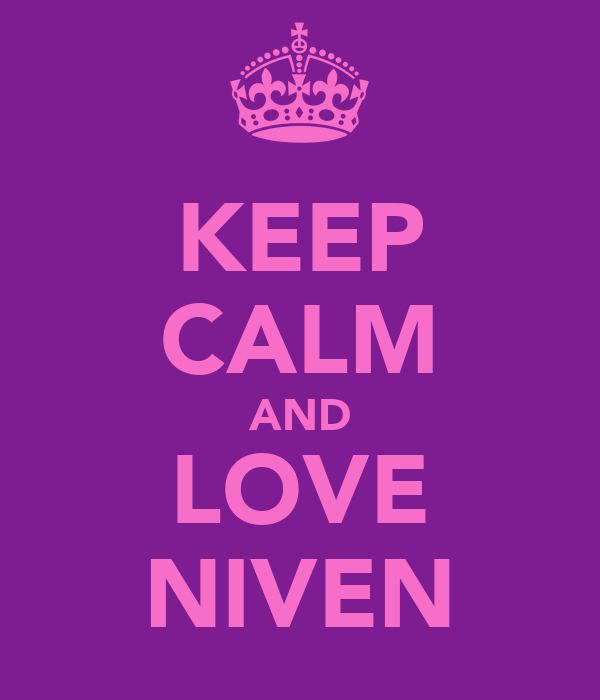 KEEP CALM AND LOVE NIVEN