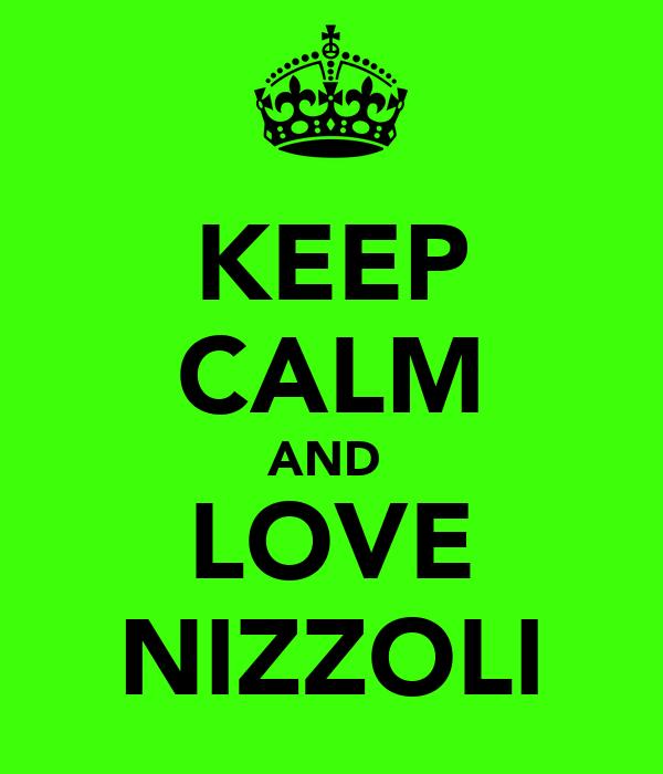 KEEP CALM AND  LOVE NIZZOLI