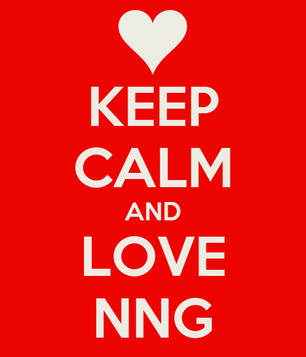 KEEP CALM AND LOVE NNG