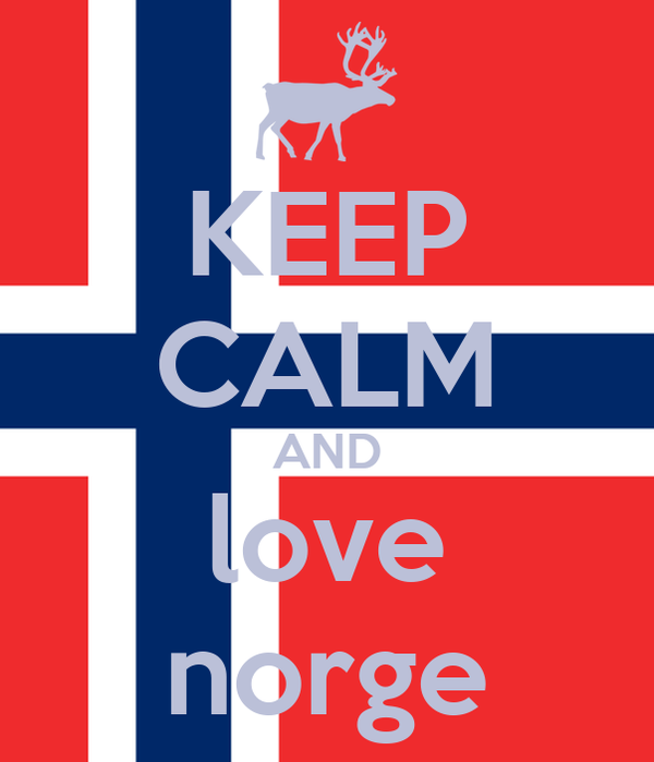 KEEP CALM AND love norge