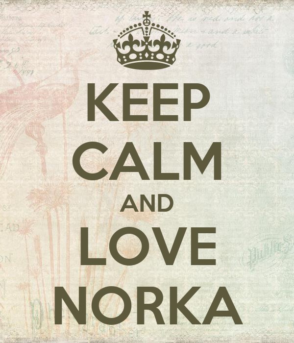 KEEP CALM AND LOVE NORKA