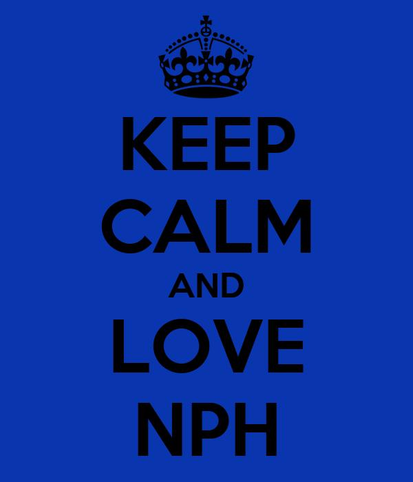 KEEP CALM AND LOVE NPH