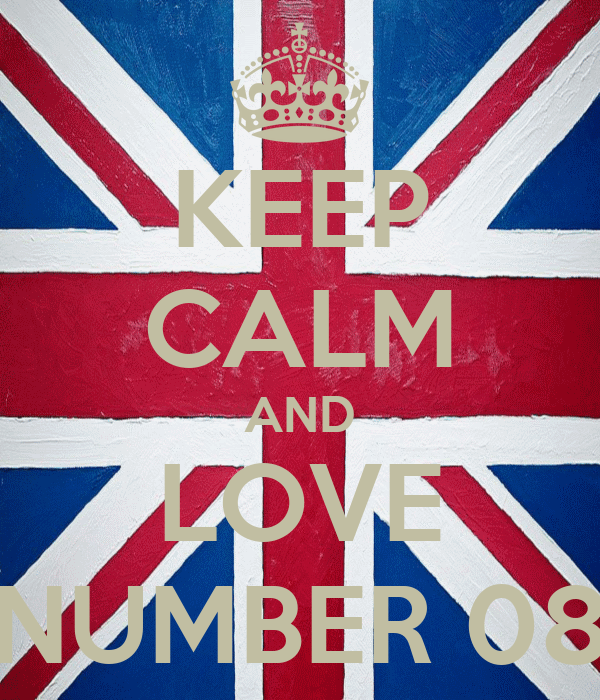 KEEP CALM AND LOVE NUMBER 08