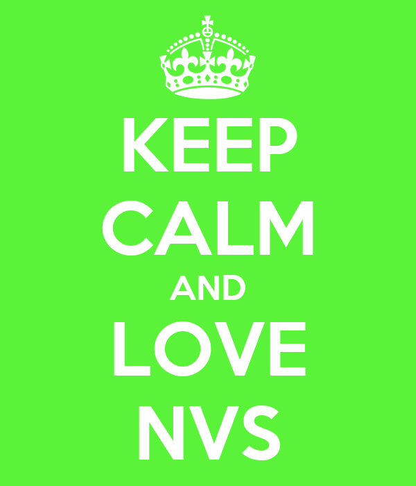 KEEP CALM AND LOVE NVS