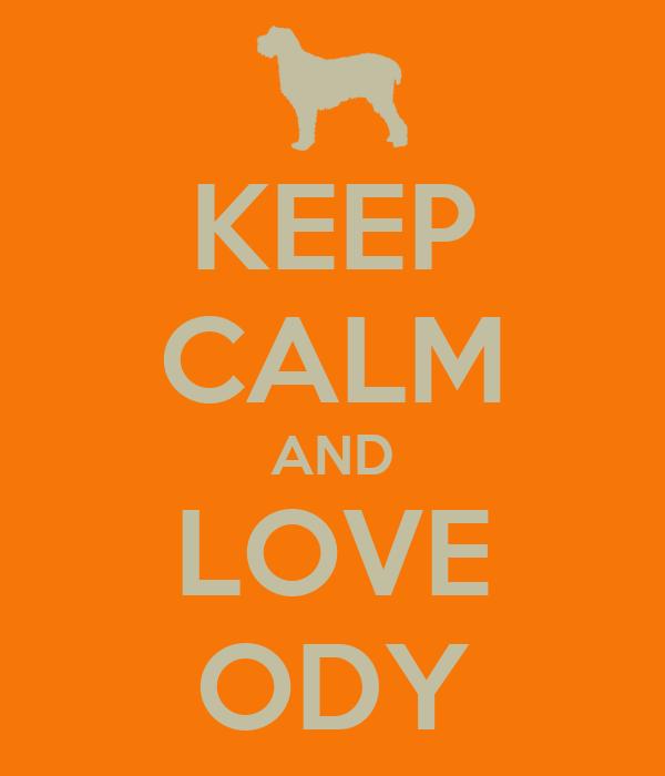KEEP CALM AND LOVE ODY