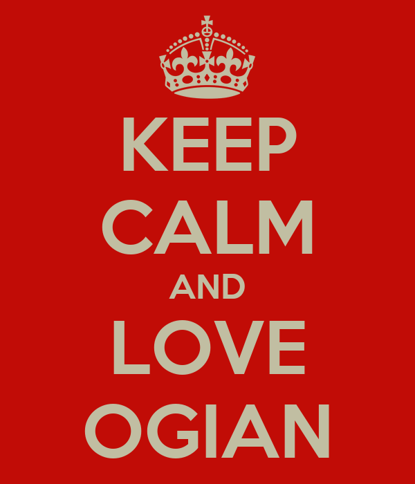 KEEP CALM AND LOVE OGIAN