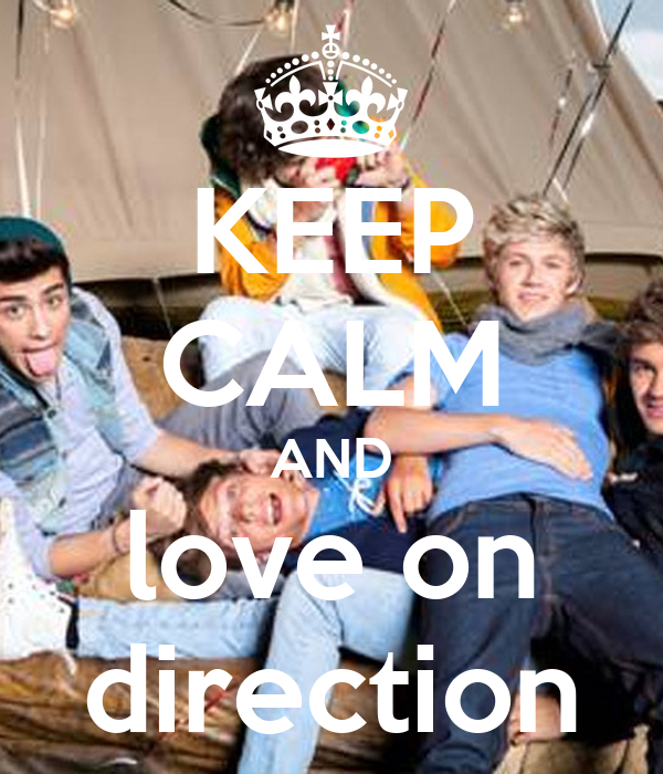 KEEP CALM AND love on direction