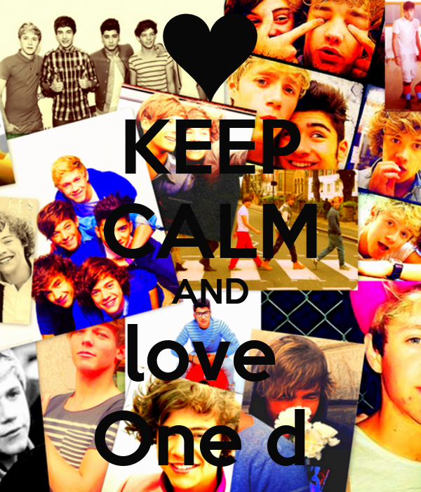 KEEP CALM AND love  One d