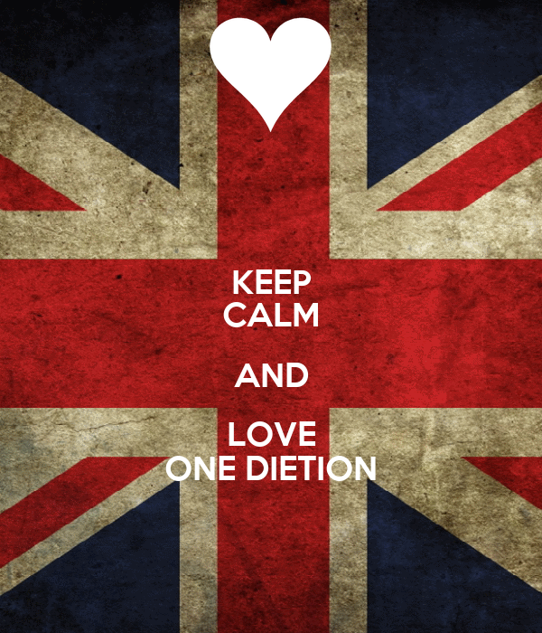 KEEP CALM AND LOVE ONE DIETION