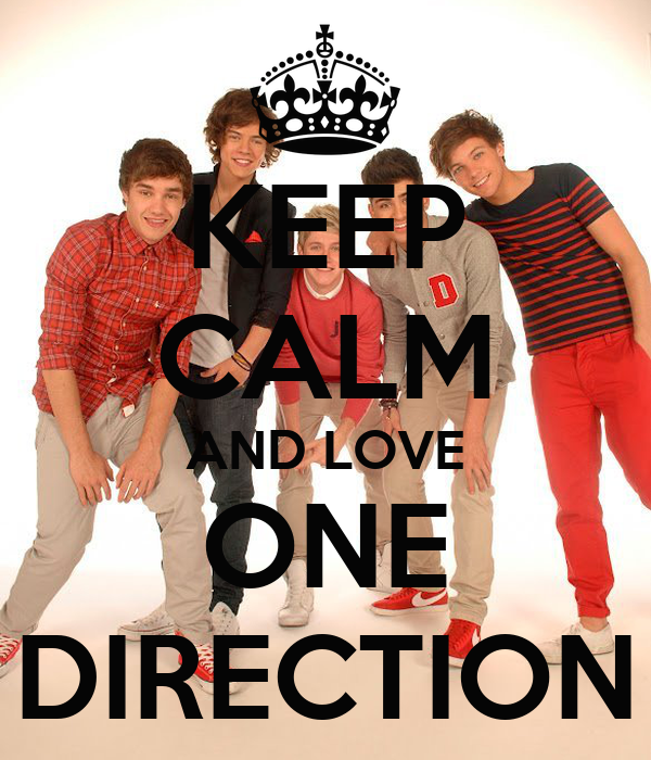 KEEP CALM AND LOVE ONE DIRECTION Poster   JK   Keep Calm-o-Matic