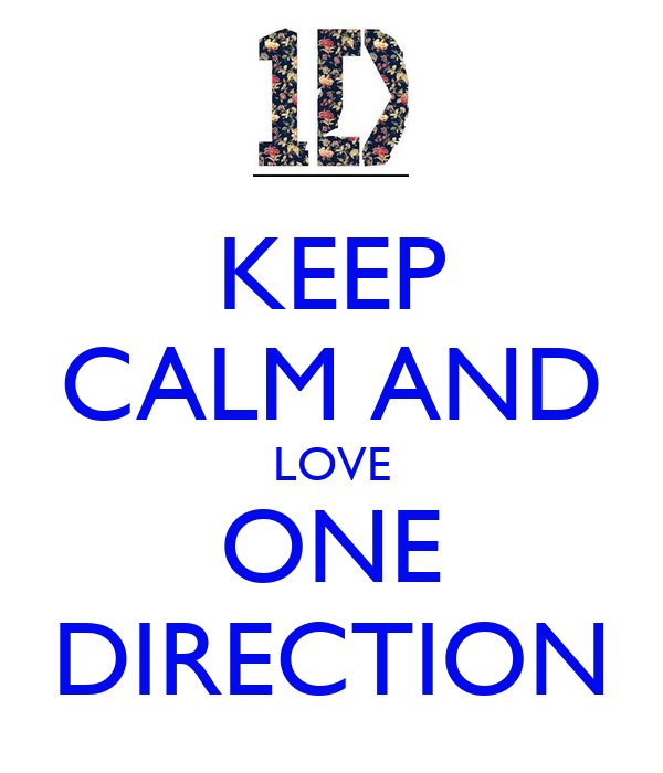 Keep Calm And Love One Direction Poster Andrea