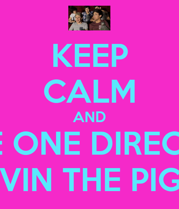 KEEP CALM AND LOVE ONE DIRECTION & KEVIN THE PIGEON