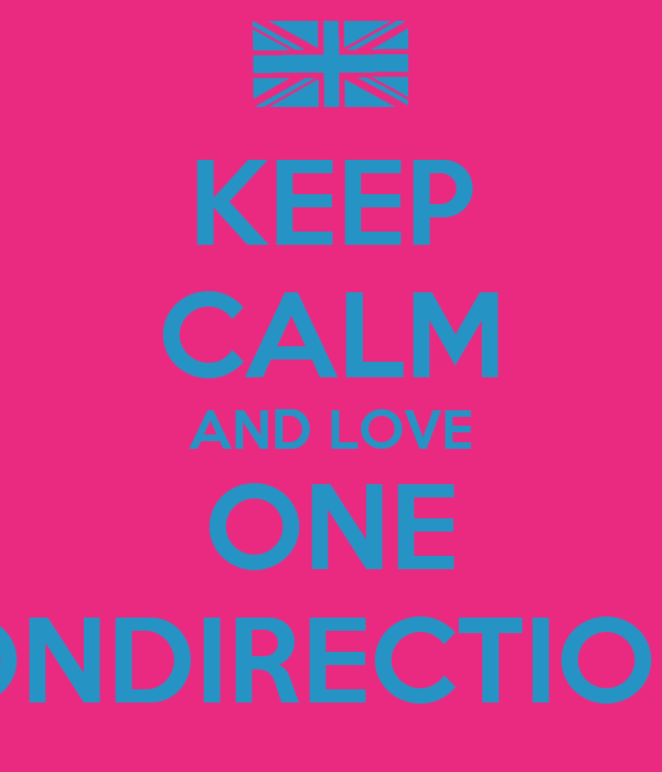 KEEP CALM AND LOVE ONE ONDIRECTION
