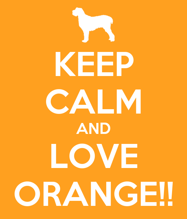 KEEP CALM AND LOVE ORANGE!!