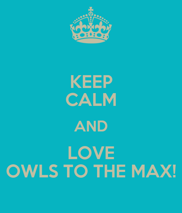 KEEP CALM AND LOVE OWLS TO THE MAX!