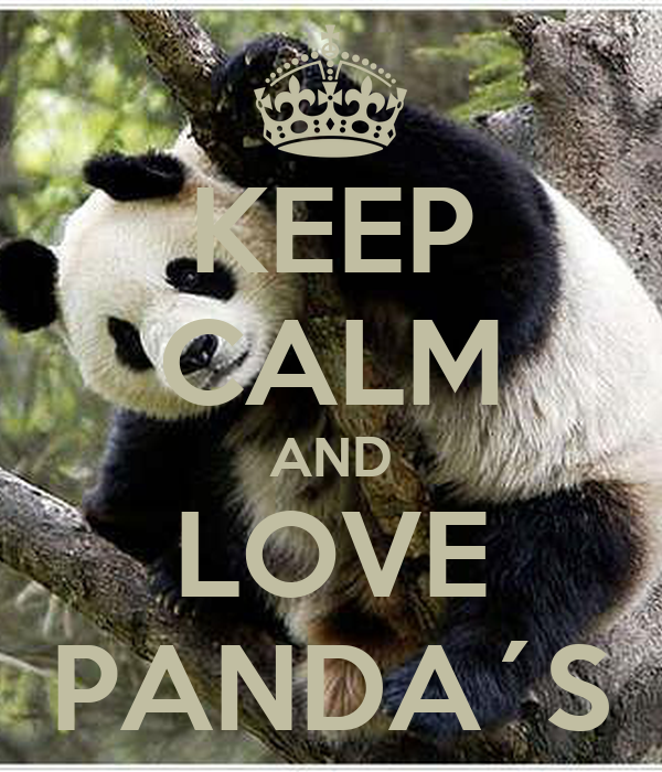 KEEP CALM AND LOVE PANDA´S