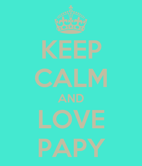 KEEP CALM AND LOVE PAPY