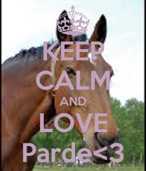 KEEP CALM AND LOVE Parde<3