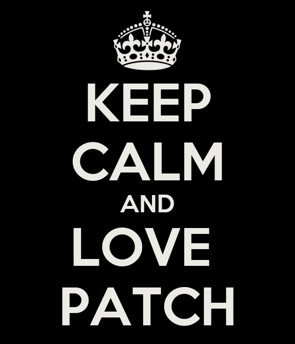 KEEP CALM AND LOVE  PATCH