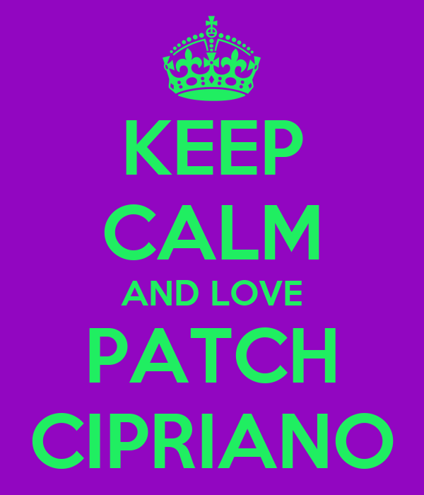 KEEP CALM AND LOVE PATCH CIPRIANO