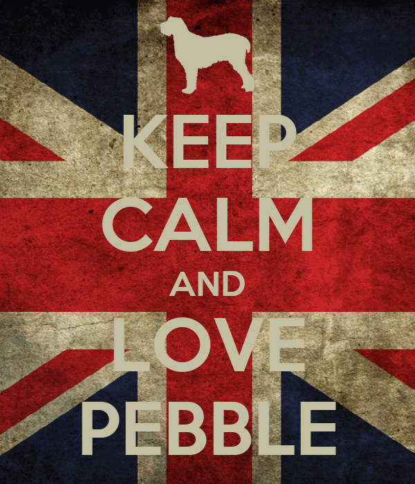 KEEP CALM AND LOVE PEBBLE