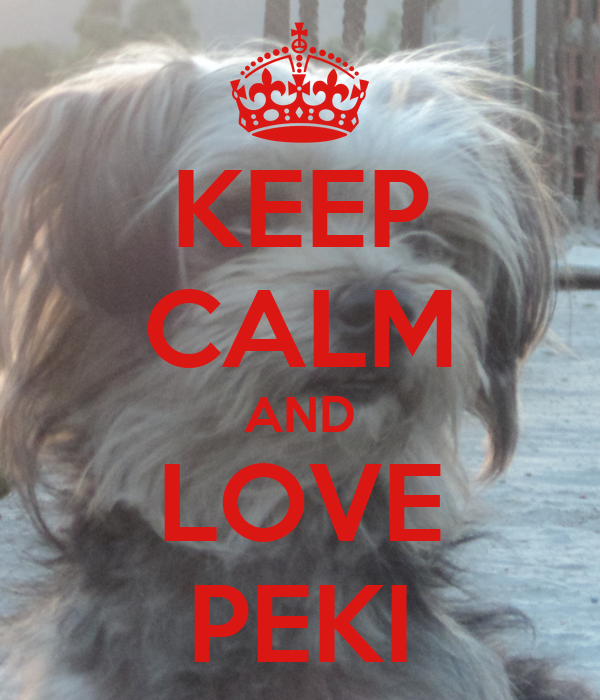 KEEP CALM AND LOVE PEKI