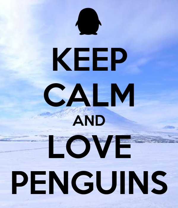 keep calm and love penguins poster moguboy keep calmo