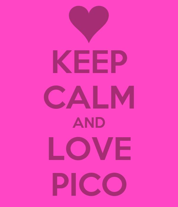 KEEP CALM AND LOVE PICO