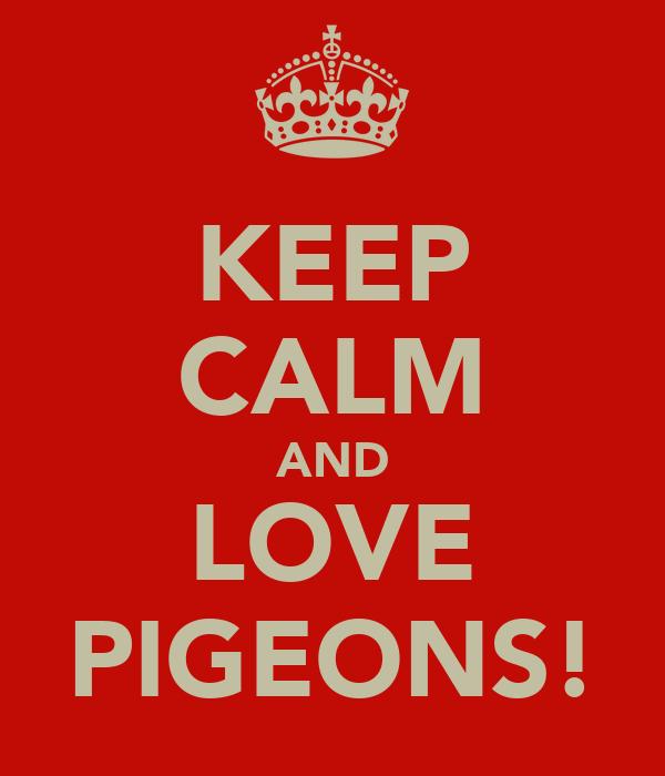 KEEP CALM AND LOVE PIGEONS!