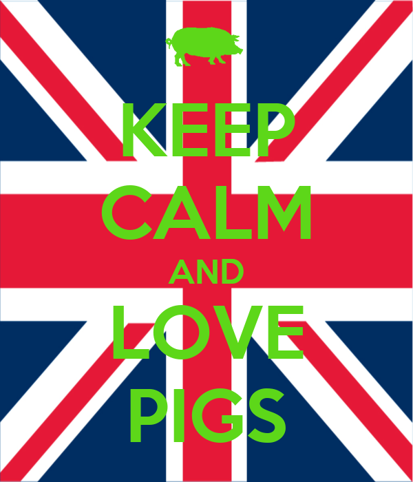 KEEP CALM AND LOVE PIGS