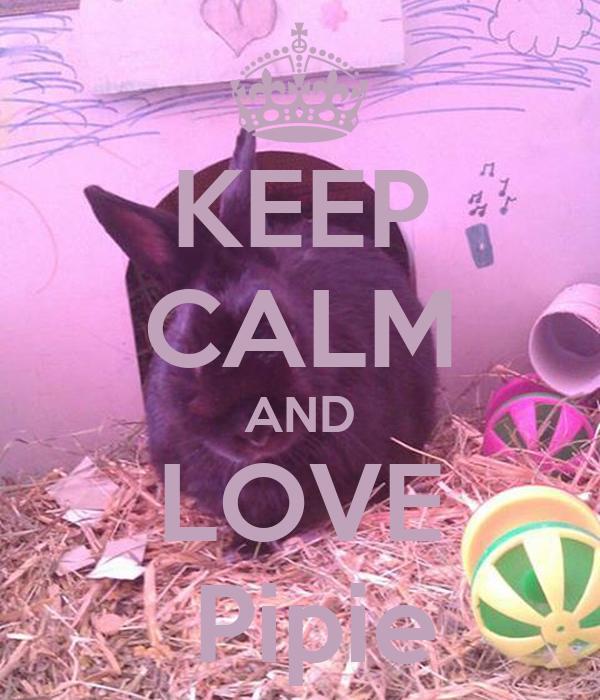 KEEP CALM AND LOVE  Pipie