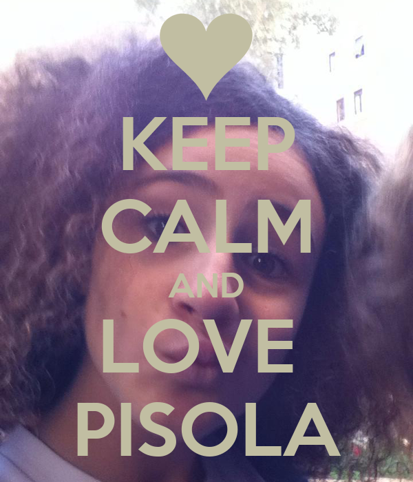 KEEP CALM AND LOVE  PISOLA